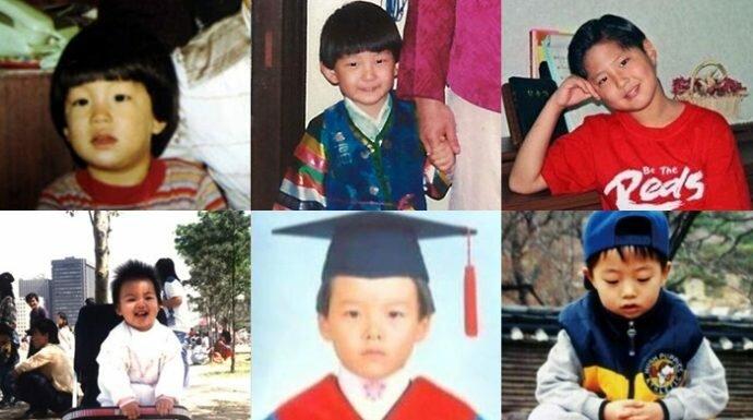 ใครจะรู้ว่า 6 เด็กน้อยน่ารักในวันนั้นจะกลายเป็นพระเอกเกาหลีสุดฮอตในวันนี้