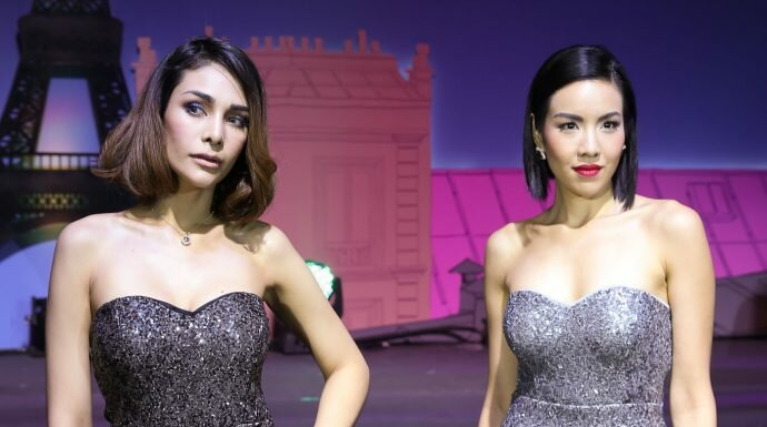 2 สาว 'ไข่มุก ชุติมา-โกโก้ The Face Thailand' ร่วมสาธิตแต่งหน้าสุดเก๋กับ VIE Cosmetics