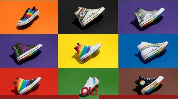 "Converse เปิดตัวรองเท้าสีรุ้งกับ "" Pride Collection """